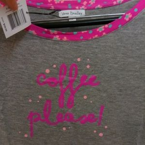 "Vera Bradley T-shirt ""Coffee Please"" pajama"